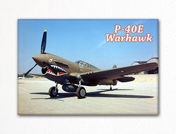P-40E Warhawk Photo Fridge Magnet