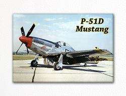 North American P-51D Mustang WWII Aircraft Photo Fridge Magnet