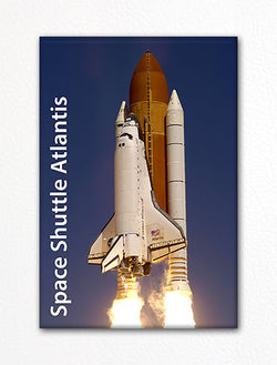 Space Shuttle Atlantis Launch Fridge Magnet