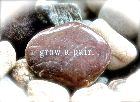 Grow A Pair Engraved Rock Gift