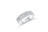 Milgrain Diamond Band 0.59 ct tw Round-cut 14K White Gold BAN039