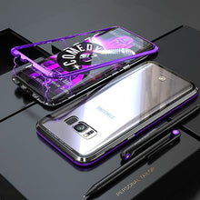 Load image into Gallery viewer, Phone Case - Metal Built-in Magnetic Adsorption + Transparent Glass Back Cover For Samsung Note9 Note8 S9 S9 Plus S8 S8 Plus S7 S7 Edge
