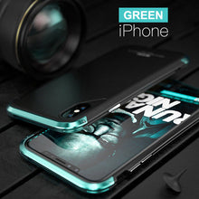 Load image into Gallery viewer, Phone Case - Luxury Armor Metal Shockproof + Tempered Glass Cover Case For iPhone X
