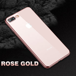 Phone Case - Luxury Plating Soft TPU Silicone Case for iPhone