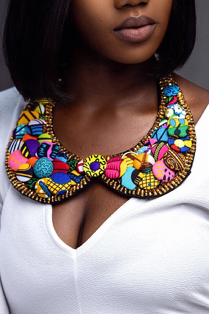 Ohemaa Button  Bib Necklace