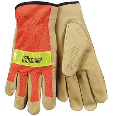 Kinco Gloves with Mesh Back Orange