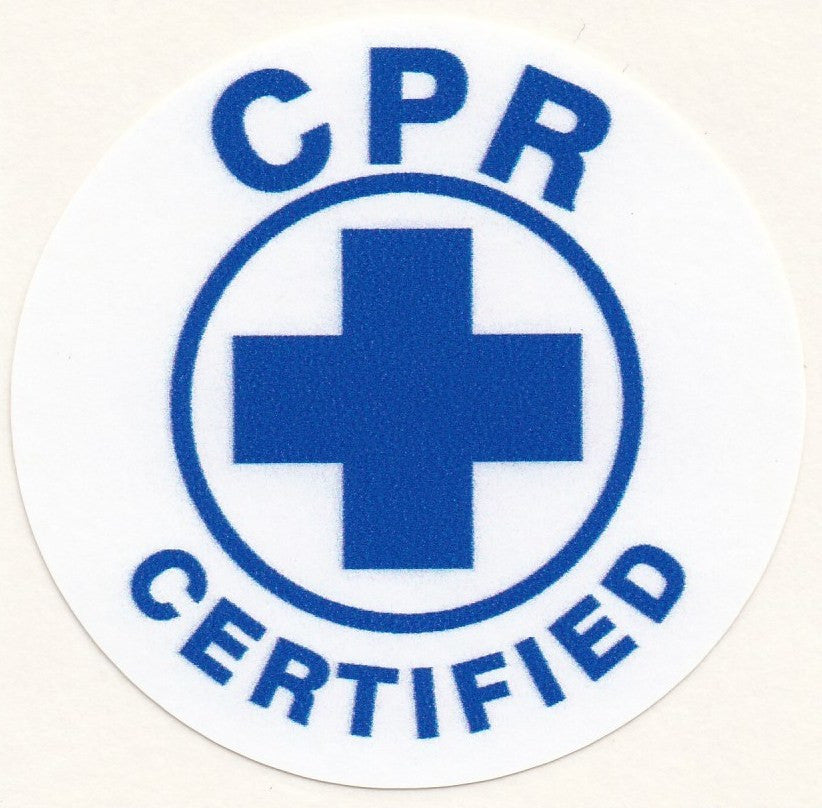CPR CERTIFIED HARD HAT STICKER