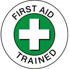 FIRST AID TRAINED GREEN
