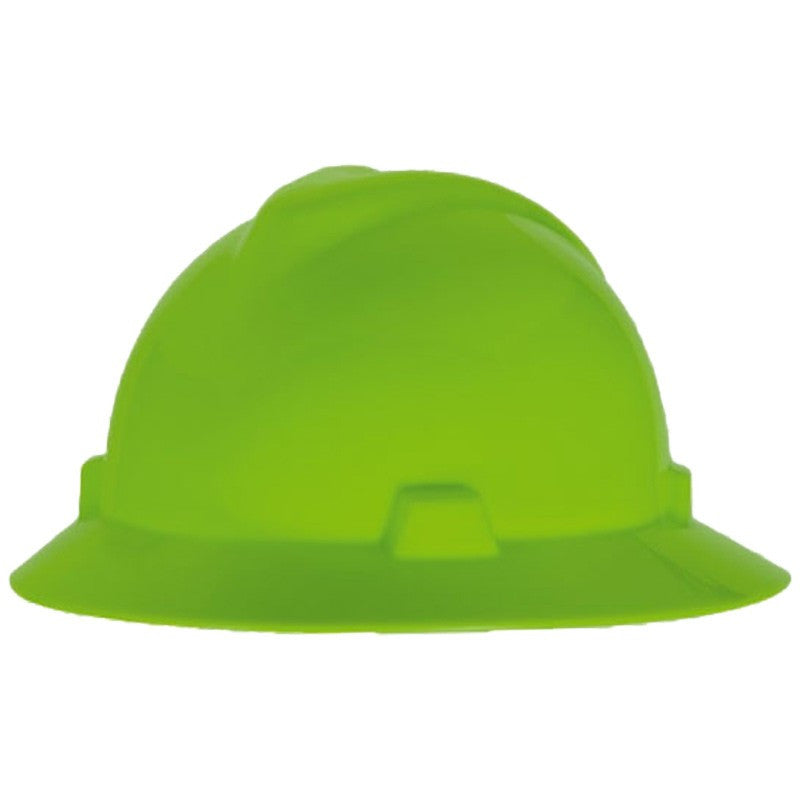 MSA V-Guard Full Brim Hard Hats With Fas-Trac III Suspension