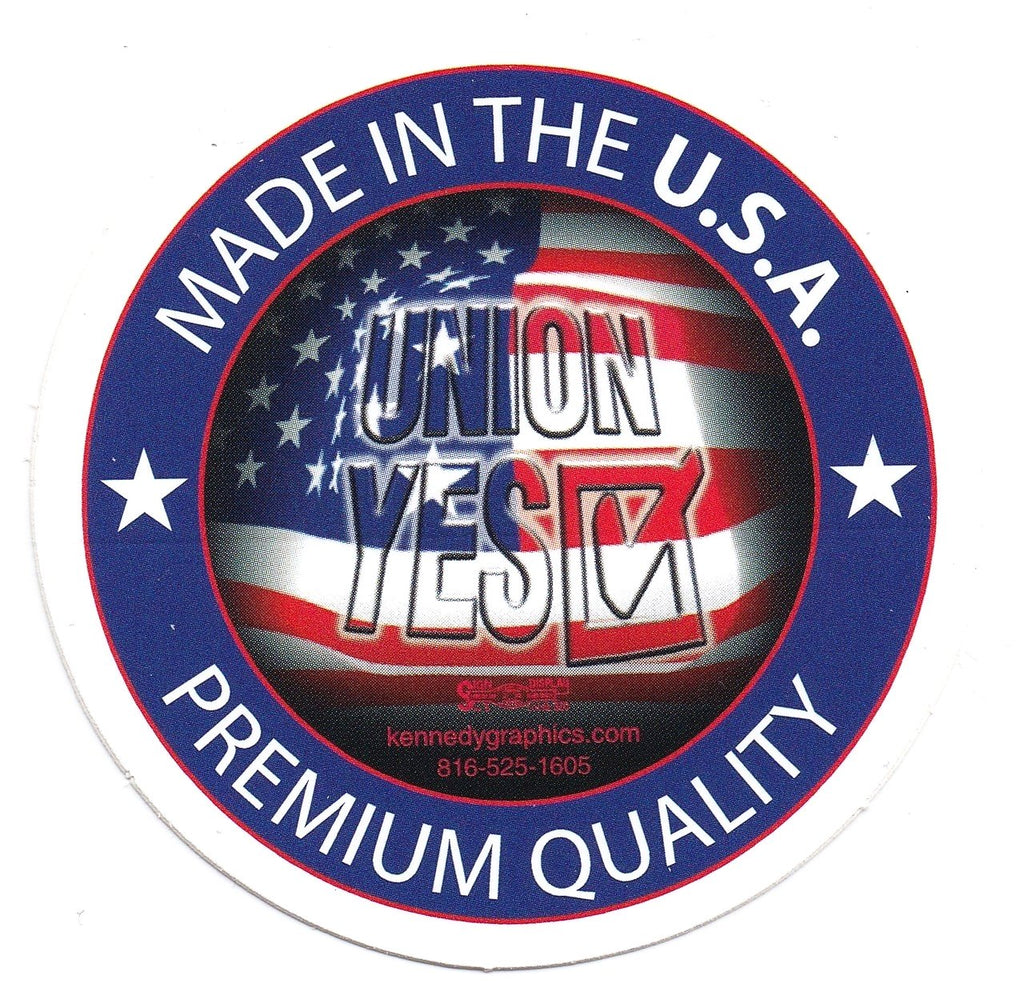 Union Yes Made in the USA Sticker S-99