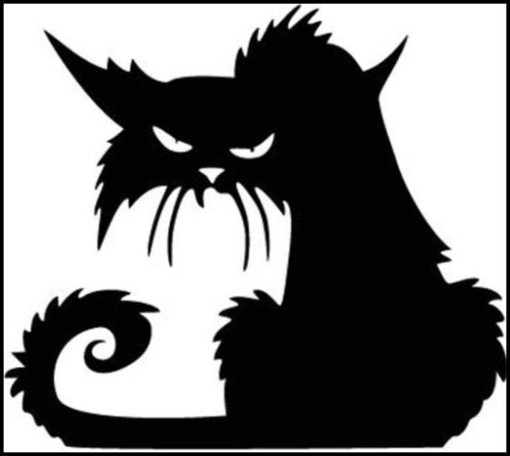 Cool Cat Decal - Black