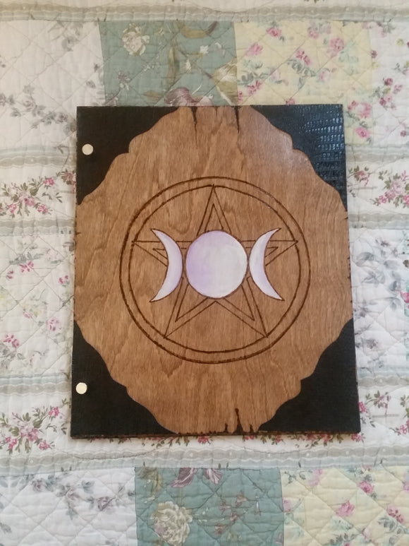 Goddess Pentagram 12 x 11 inch Book of Shadows