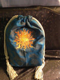 Sun God Embroidered Pouch