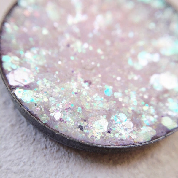 first bite pale pink pressed glitter