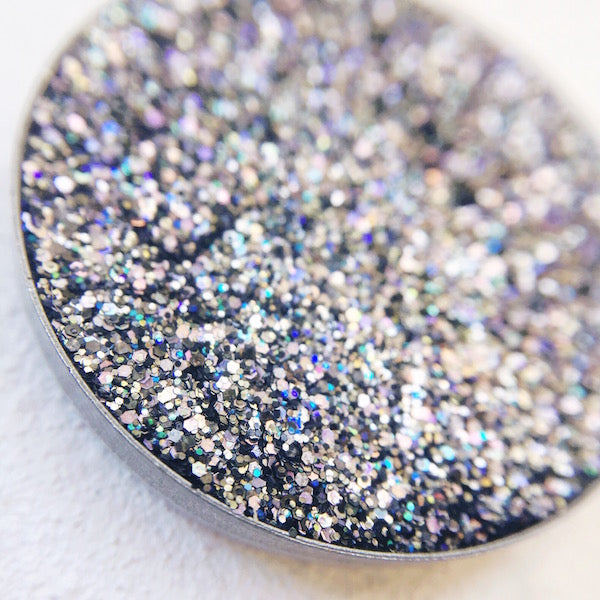 vale black and rainbow pressed glitter