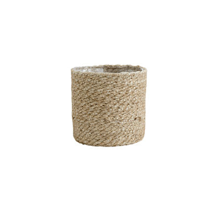 Jute basket planter - small