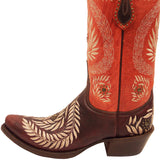 Ladies Lucchese M4837 Red and Orange Julie