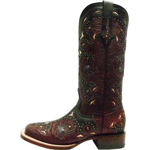 Ladies Lucchese M5810.TWF Red Studded Scarlette