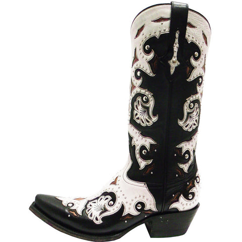 Ladies Lucchese M5016.S54 Black Studded Scarlette