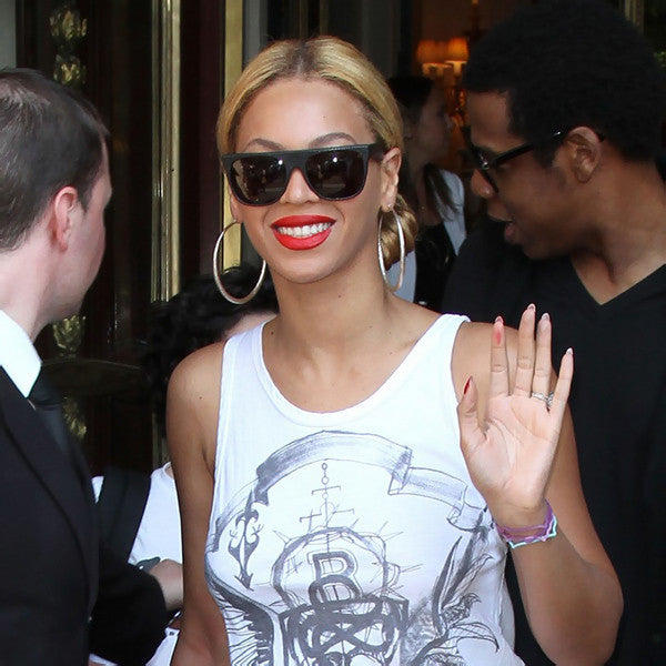 Beyonce Style Flat Top Celebrity Sunglasses