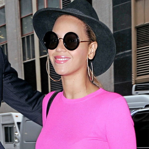 Beyonce Style Thick Round Celebrity Sunglasses