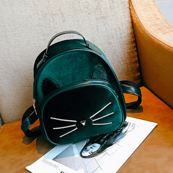 2018 Kawaii Cat Ear Backpack - Green