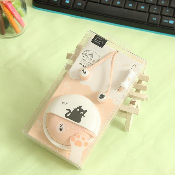 Cute Cat Macarons In-Ear Earphones - Pink
