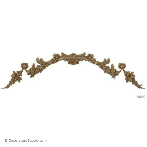 Floral Design - Fr. Ren. 10 1/2H X 32W - 5/8Relief-ornaments-for-furniture-wooodwork-Decorators Supply