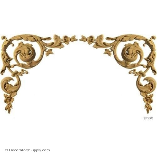 Spandrel Scrolls -Louis XVI Pr. 10H X 10W - 3/8Relief-appliques-for-woodwork-furniture-Decorators Supply