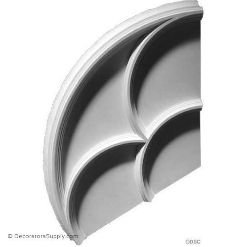 "Plaster Medallion 55 x 3 7/8"" Rib 1 3/4"" x 1 1/2"" 3 Pieces-ceiling-ornament-Decorators Supply"