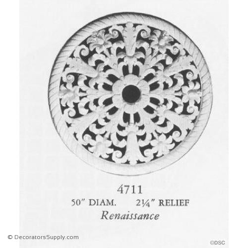 Plaster Medallion or Vented Grille Renaissance-ceiling-ornament-Decorators Supply