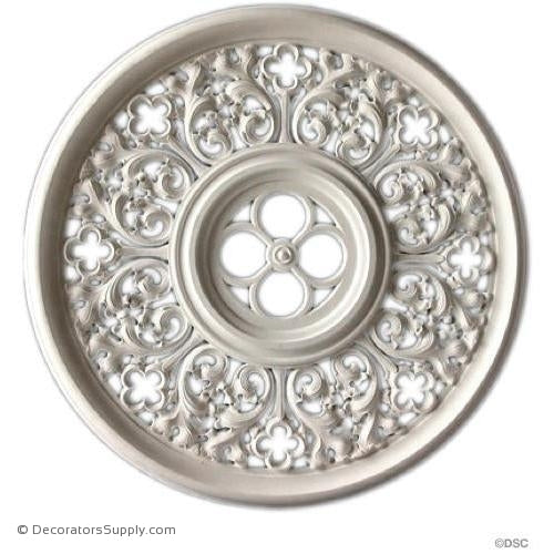 Plaster Medallion or Vented Grille Gothic-ceiling-ornament-Decorators Supply