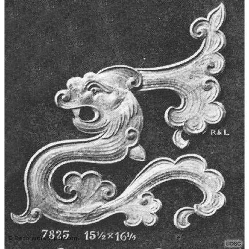Animal Serpent -Chinese 16 1/4H X 15 1/2W - 3/16Relief-Decorators Supply