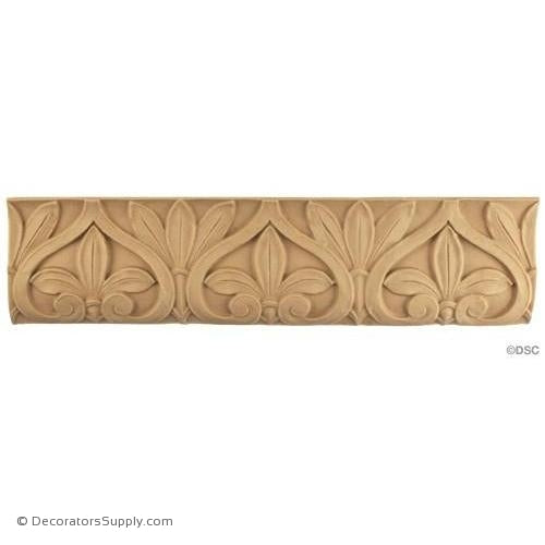 Leaf - Roman 4H - 3/8Relief-woodwork-furniture-lineal-ornament-Decorators Supply