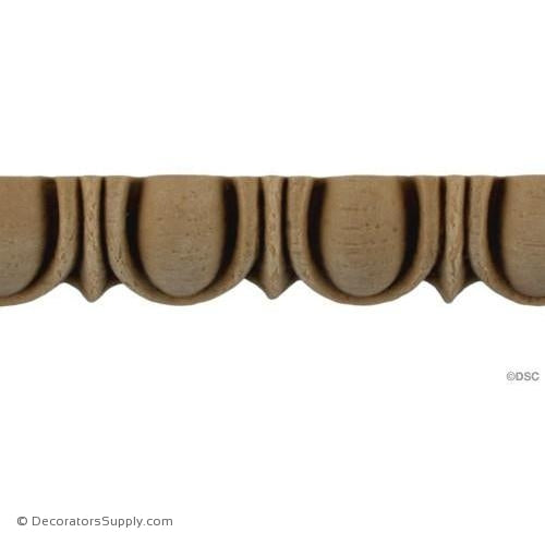 Egg and Dart-Roman 3/4H - 1/2Relief-woodwork-furniture moulding-Decorators Supply
