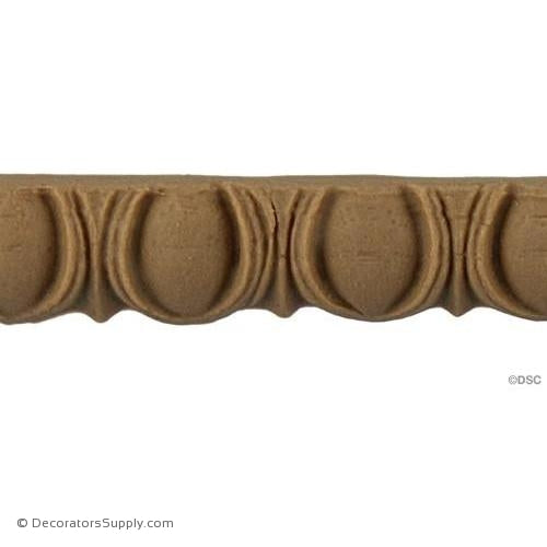 Egg and Dart-Roman 1/2H - 1/4Relief-woodwork-furniture moulding-Decorators Supply