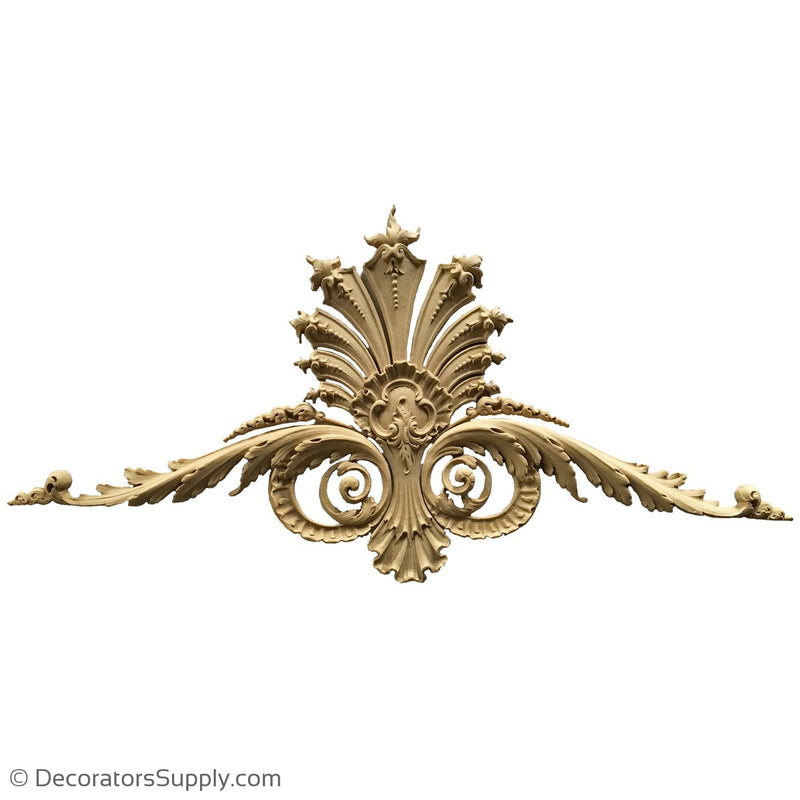 Shell Cartouche - Louis XV 14  1/4H X 27  1/2W - 3/4Relief