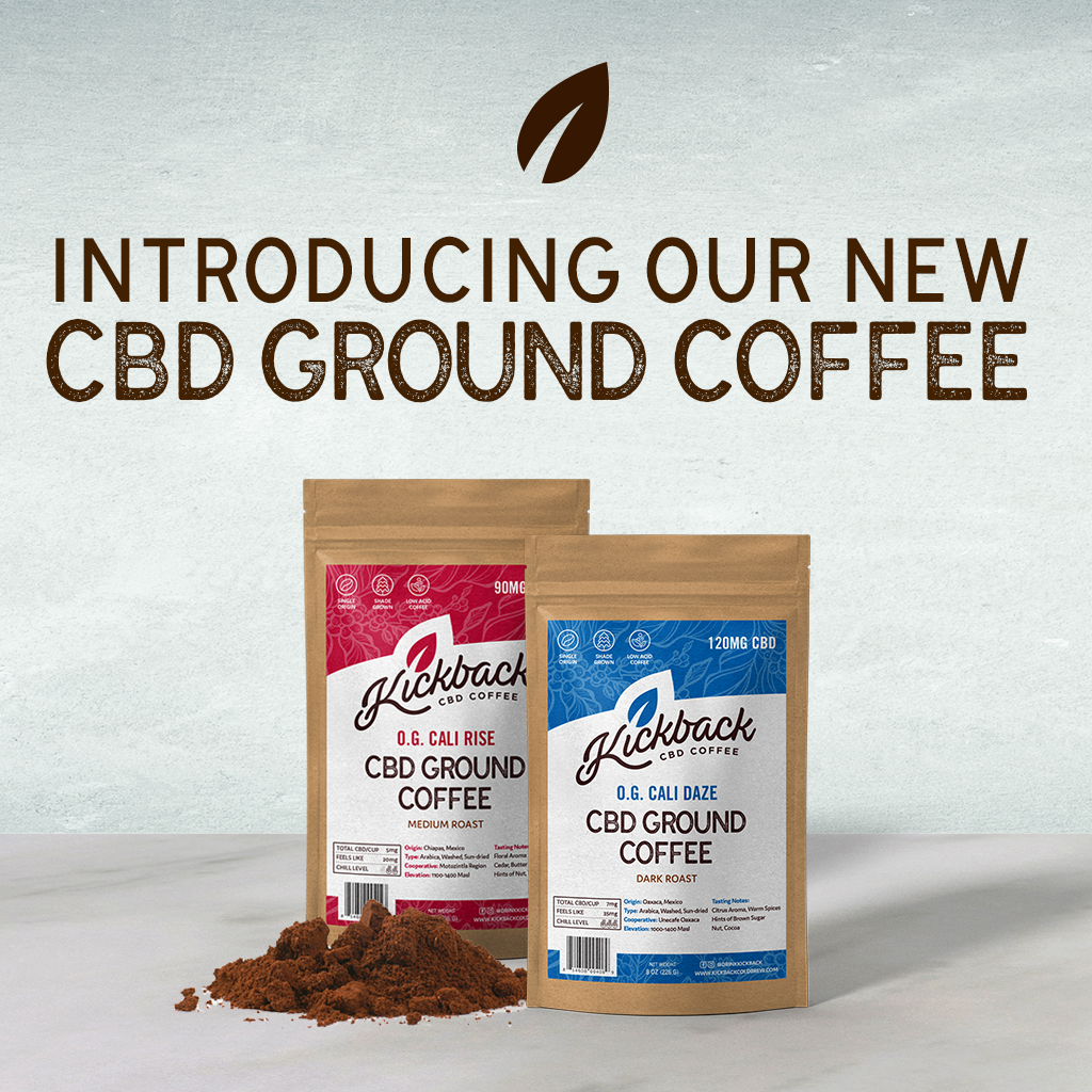Announcing Our New Kickback CBD-Infused Ground Coffee