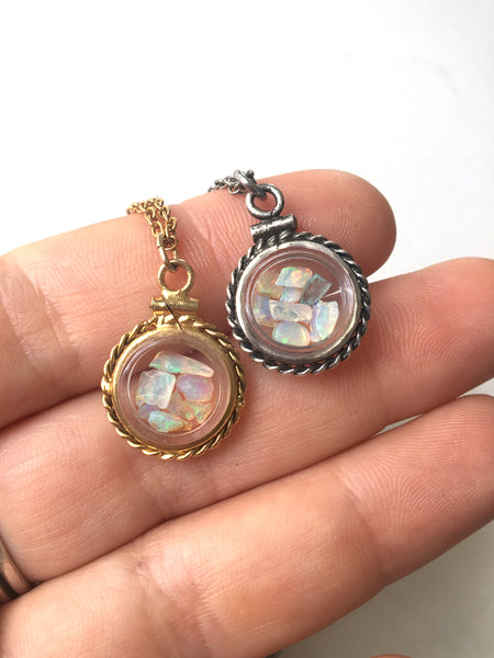 Floating Opal Locket