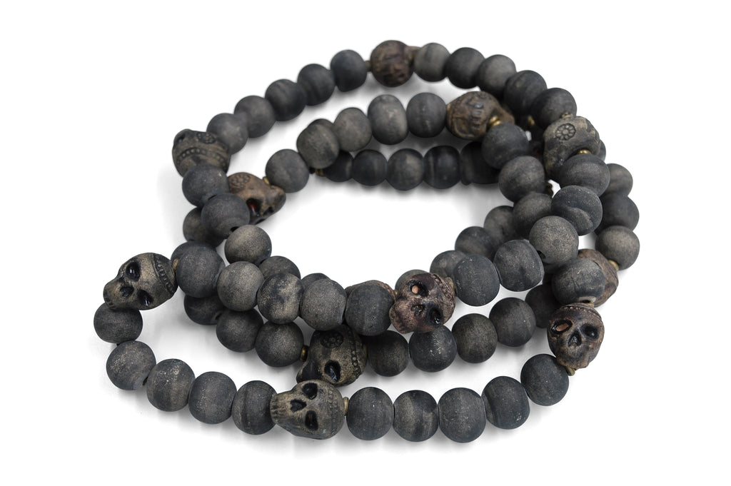 Skull ~ Long Matte Grey Slate ~ More Masculine