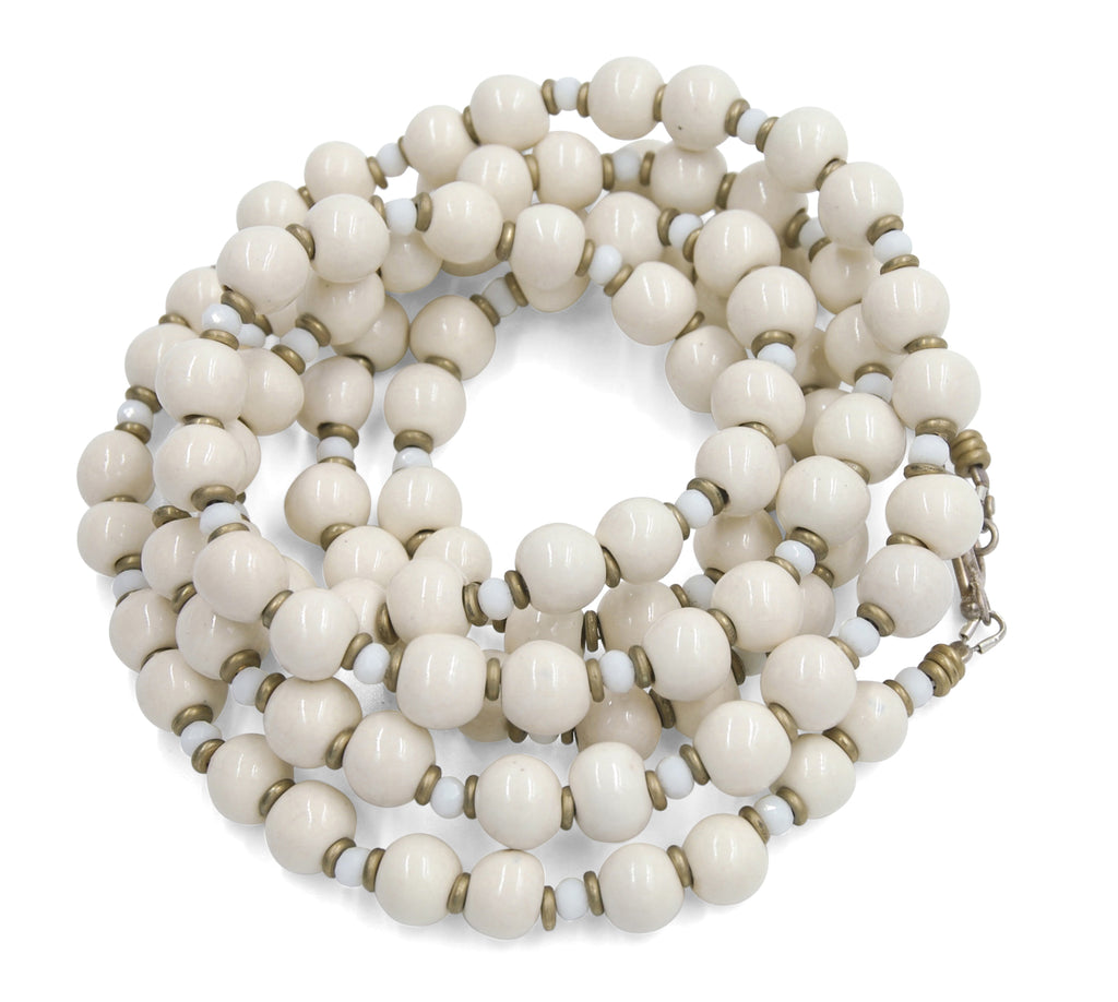 Mala in Soft Ivory