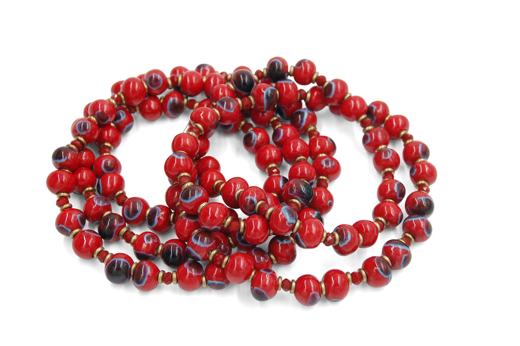Mala ~ Crystal Red