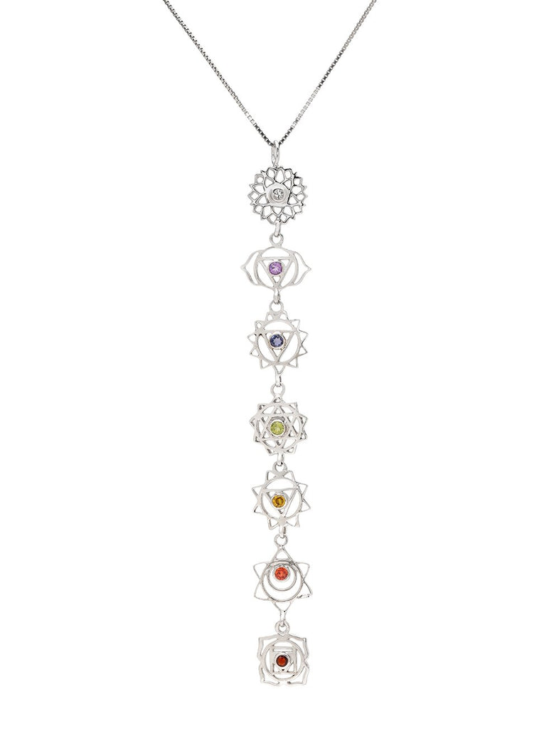 7 Chakra Gemstone Necklace ~ supports stateless Thai youth