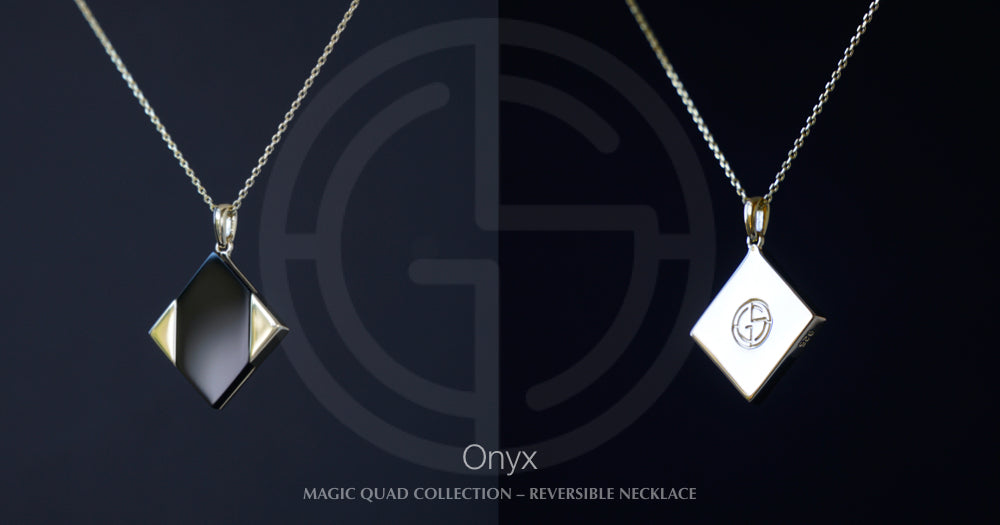 Magic Quad necklace with Onyx gemstone, Gems In Style Jewellery