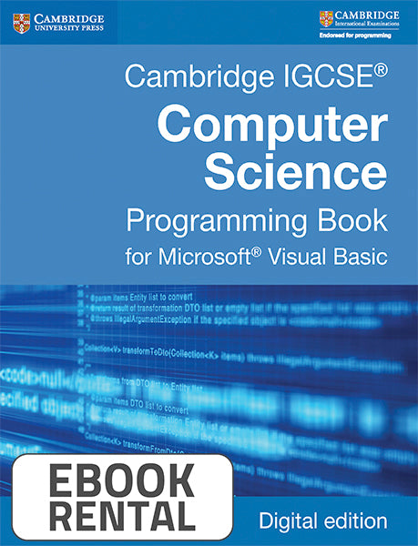 Cambridge IGCSE® Computer Science Programming Book for Microsoft® Visual Basic