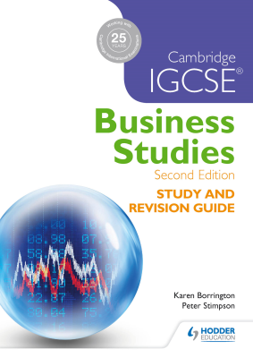 Business Studies. Study and Revision Guide for Cambridge IGCSE, 2nd Ed. <br> <small><small>by Karen Borrington, Peter Stimpson</small></small>