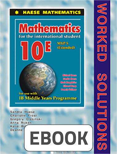 Mathematics for the International Student 10 Extended Worked Solutions Digital