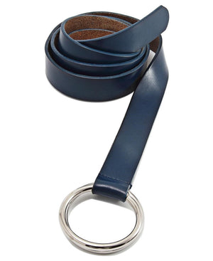 Genuine Leather Belt - Navy