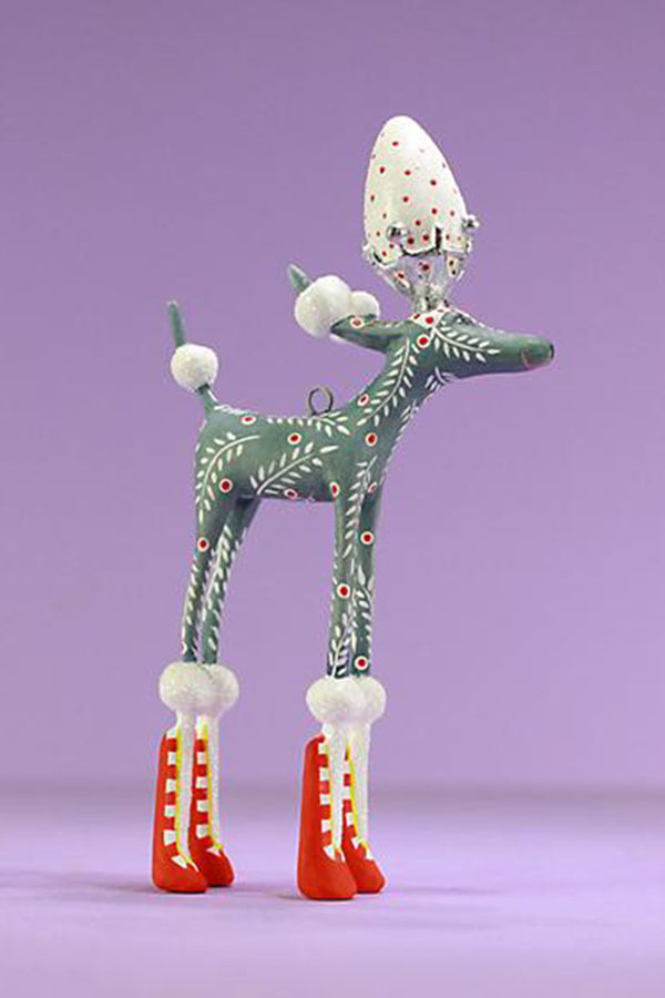 Mini Ornament - Paul Gray Poodle