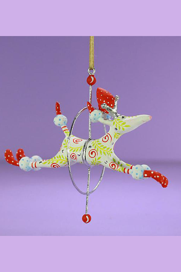 Mini Ornament - Lalla Leaping Poodle